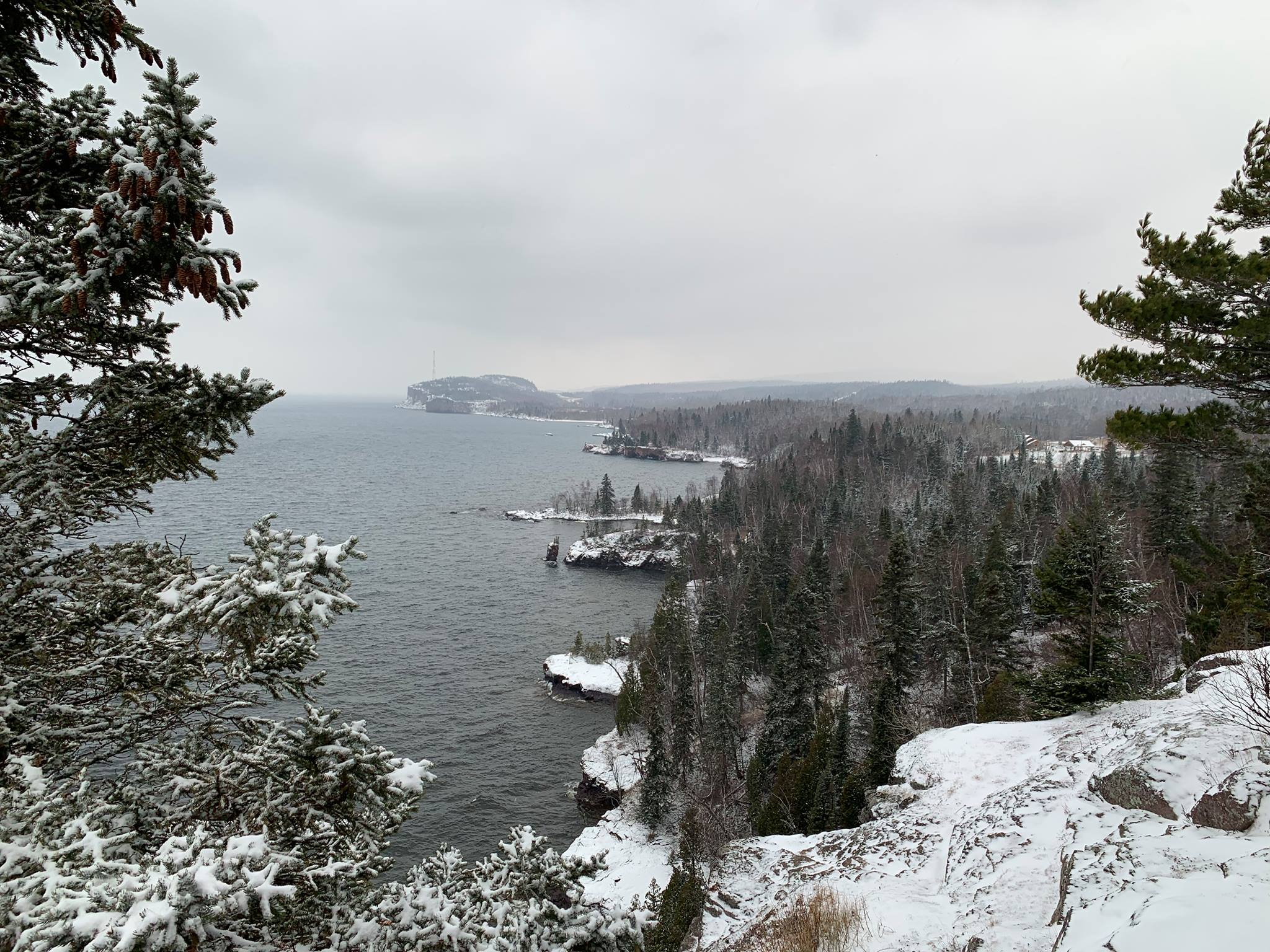 winter on the north shore